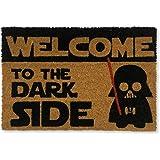 koko doormats felpudos Entrada casa Originales, Fibra de Coco y PVC, Felpudo Exterior Welcome TO The Dark Side, 40x60x1.5 cm