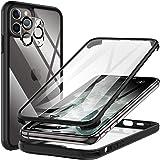KKM Compatible avec iPhone 11 Pro Max Coque, Protecteur D'écran Intégré, [Qualité Militaire] Étui de Téléphone Antichoc, [Pan