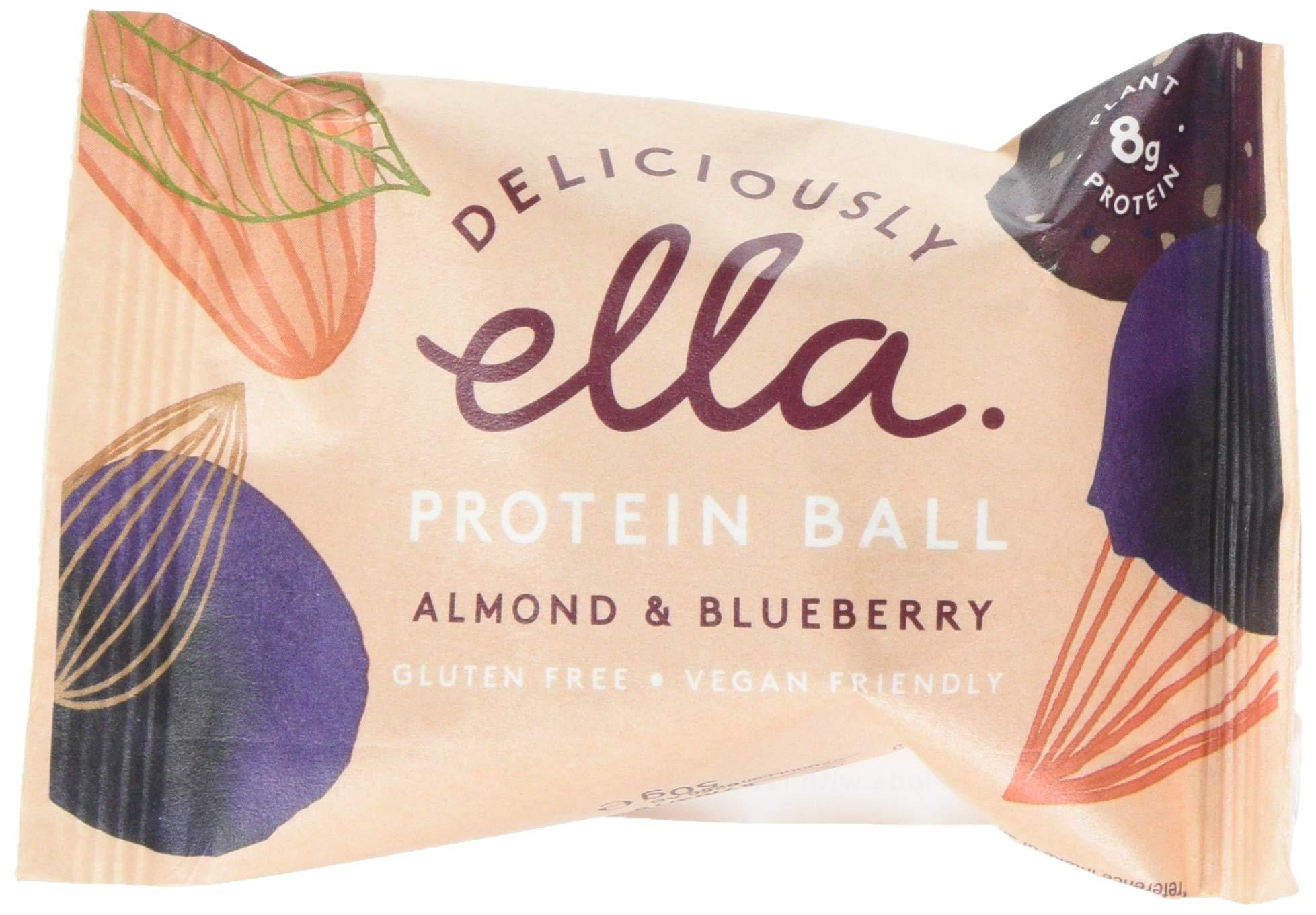 Deliciously Ella - Almond & Blueberry Protein Ball, Gluten-Free, Vegan Friendly, Healthy Snack, 50g (12 Balls) 1
