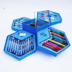 Zomaark™ Colors Box Color Pencil,Crayons, Water Color, Sketch Pens Set of 46 Pieces
