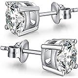 jiamiao Orecchini a lobo 925 orecchini d'argento per le donne, AAAAA+ zircone diamante earrings orecchini d'argento per le do