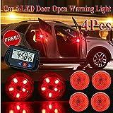 SuperKart 5-LED Car Door Warning Light Universal Wireless Car Door Safety Warning Light for Anti Rear-End Collision Red…