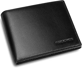 Geldbörse Herren/Geldbeutel Männer aus echtem Nappa-Leder, RFID Portemonnaie Geldtasche Brieftasche Herrenbörse von Ruschen