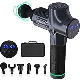 Farsaw Elektrisch Massagepistole, Muskel Massage Gun LCD Touchscreen, Massagegerät mit 6 Massageköpfen, 30 einstellbare…