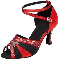 Minitoo L165 Sandales de mariage confortables en satin pour salle de bal