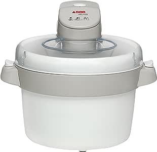 Seb IG500131 Sorbetière Électrique Gelato Machine à Glace Sorbet Crème Glacée Yaourt Capacité 1L Beige