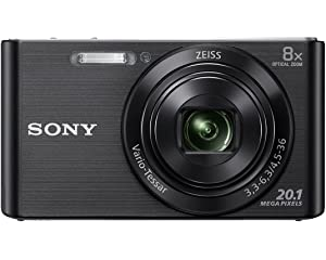 Sony DSC W830 Cyber Shot 20.1 MP Point and Shoot Camera  Black  with 8X Optical Zoom