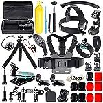 Soft Digits 50 in 1 Action Camera Accessori Kit per GoPro Hero 2018 Hero 7 6 5 4 3 Hero 5 Black, Hero Session YI Campark...