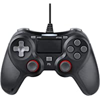 Zexrow Wired Controller for Playstation 4, Dual Vibration Shock Wired Games Controller Joystick Gamepad with 1.5M USB Cable for Playstation 3/ 4/ PS4 Slim/ PS4 Pro PC