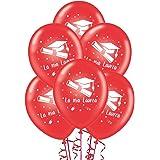 ocballoons Palloncini Laurea Rossi addobbi e Decorazioni per Feste Party Confezione 20pz…