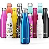 Proworks Bottiglia Acqua in Acciaio Inox, Senza BPA Vuoto Isolato Borraccia Termica in Metallo per Bevande Calde per 12 Ore &