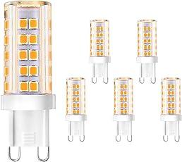 Creyer G9 LED Lampen Kein Flackern /420 Lumens/ 5W Ersetzt 40W  Halogenlampen/Warmweiß