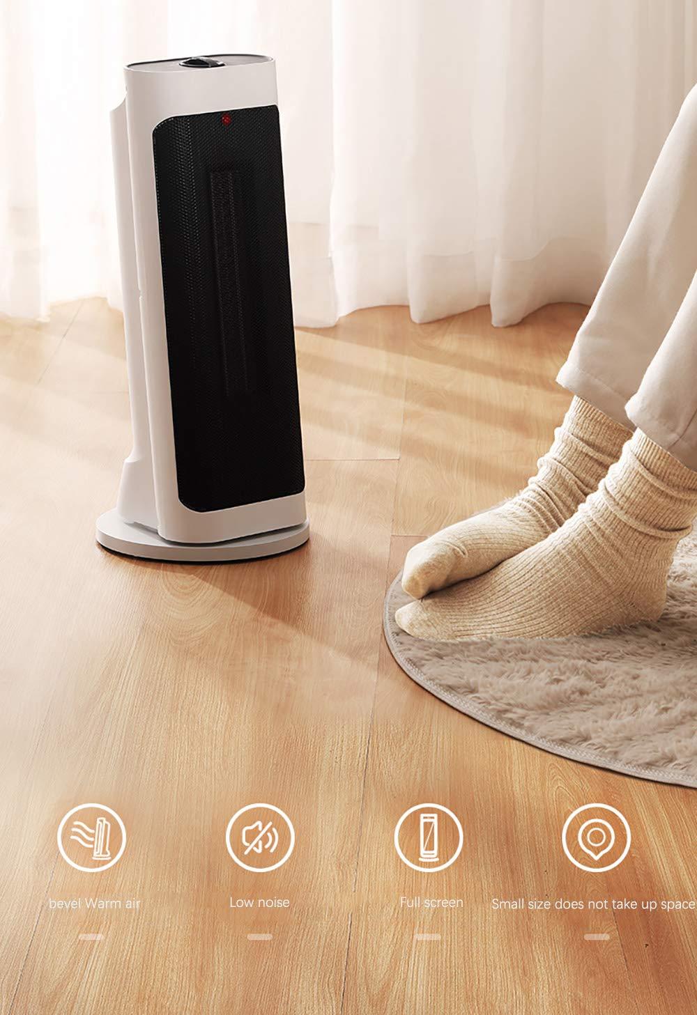 LANLAU Calentador, Ventilador De Calentador Personal Eléctrico con Oscilación Automática, Viento Cálido/Frío para… 2