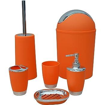 Ensemble de 6 pièces d\'accessoires de salle de bain - Poubelle ...