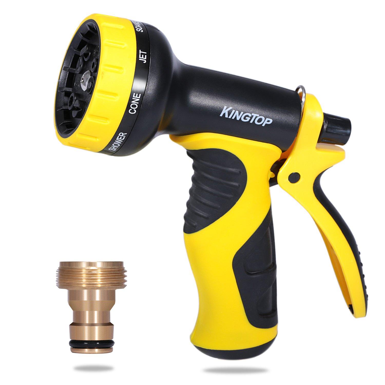 10 Pattern Adjustable Spray Gun Hose Nozzle Garden Water Pipe Flexible Watering Ebay