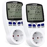 Maxcio dubbeltarief vermogensmeter, stroomverbruiksmeter, wattmeter voor elektrische energie met lcd-scherm, overbelastingsbe