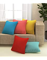 Yellow Weaves™ Cotton Canvas Decorative Cushion Covers