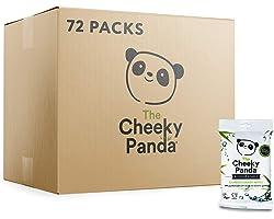 The Cheeky Panda – Bamboo Handy Wipes   Bulk Box of 72 Packs (12 Wipes per Pack, 864 Total)   Plastic-Free Wipes, Pocket Size