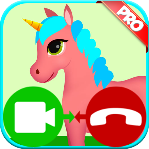 unicorn fake video call game - Free Fake Phone Call ID And Fake Text Message PRO 2019 - PRANK FOR KIDS! - Wallpaper Video-spiel