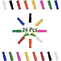 Very'tea - 24 Embouts Silicone Multicolores pour Pailles Réutilisables en Acier Inoxydable ou Verre, Lot de 24 Couvre…