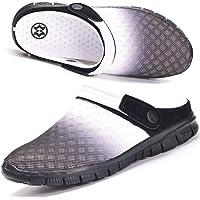Hsyooes Mules Et Sabots Homme Femme Respirant Chaussures de Jardin Sandale à Enfiler Chaussons Pantoufles Été Taille 36…