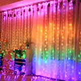 CITRA 240 LED 9.8Feet Curtain Lights Icicle Lights Fairy String Lights with 8 Modes for Wedding Party Family Patio Lawn…