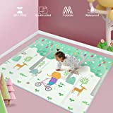 Uanlauo Tappeti Gioco Bambini 200x180x1.5cm, Tappeto per Bambini Pieghevole Tappetino Schiuma XPE Pavimento Antiscivolo su En