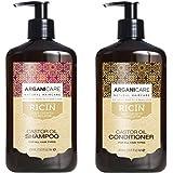 Duo Arganicare Shampooing accélérateur de croissance à l'huile de ricin Bio. 400ml + Arganicare Après shampooing Reconstructe