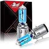 WinPower Ba20d S2 35/35 W 12V Motorfiets Halogeen Koplamp 5000K Warm Wit Super Heldere Hi/Lo Dual Lamp Lampen, 2 Stuks