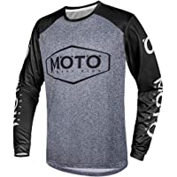 Wisdom Wolf Men's MTB Tops Mountain Bike Long Sleeve Breathable Comfortable Soft Moisture-Wicking Cycling Jersey