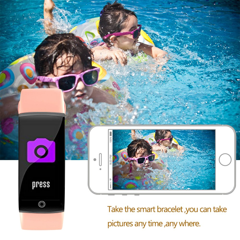 Fitness Tracker Smart Watch 4 Sports Mode Heart Rate Monitor IP67 Waterproof Activity Health Tracker Sleep Blood Pressure Oxygen Monitor CalorieStep Counter Smart Wristband For IOS Android