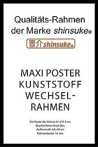 Posterrahmen Bilderrahmen Wechselrahmen 61 x 91,5 cm Gunmetal Dekor Kunststoff