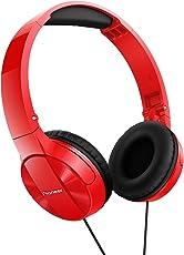 Pioneer SE-MJ503-R On-Ear-Kopfhörer (30 mm Treiber, gepolstertes Kopfband) rot