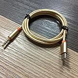 Ashley GAO USB typ C till 3,5 mm audio aux uttag adapter USB C hane till 3,5 mm hane förlängning hörlurar ljud stereokabel ad
