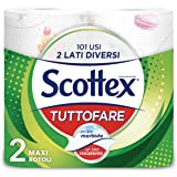 Scottex Tuttofare, Due Lati Diversi, Confezione da 2 Rotoli