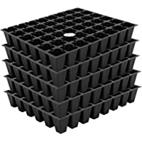 Kraft Seeds 5 Set Seed Tray Plant Grow Starting Germination Pro Tray 240 Cells, (5 Trays, 48 Cells Each) for Seedling, Flower, Vegetable Garden Box Pack (Black)