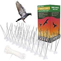 Telgoner Dissuasori per Piccioni Inox, 3M 10 File Anti Piccioni Uccelli Dispositivo, Preassemblate Flessibili Spuntoni…