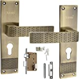 ATOM O-30 Antique Finish Zinc Mortise Handle Set with Cylindrical One Side Key Knob Lock (8-inch)