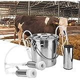 HEEPDD Machine a traire Vache, Kit de Machine à traire électrique 5L minitype Portable Machine à traire pour Vaches à Double