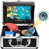 okk Cámara de Pesca subacuática,Monitor TFT de 7 Pulgadas 12 Piezas LED 1000TVL buscador de Peces HD con Bolsa de Transporte