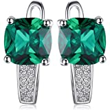 Jewelrypalace cuscino creato preziosa clip su orecchini a cerchio in argento Sterling 925