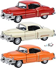 Negi Vintage Car 1:36 Open Door Metal Die-Cast Car with Sound & Light (Any One & Colour May Vary) (Vintage Car Model 2)