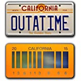 Back to the Future   OUTATIME + 2015   Metal License Plates