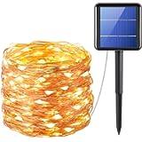 Criacr Solar String Lights, 200 LED 8 Modes Solar Fairy Lights, 72 ft/20m Copper Wire Solar Garden Lights, Waterproof…