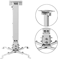 nisun Universal Projector Ceiling Mount Bracket Stand for LED LCD 2 Feet - White