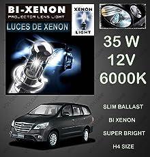 Volga Bi-Xenon HID Kit H4 Size Hi-Low Beam 35W 6000K Dimond White For Toyota Innova