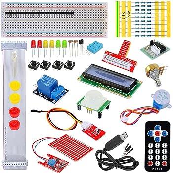 Tolako starter kit per Raspberry Pi Modello B + 3, 2& T GPIO extension Board, PL2303, Step Motor, breadboard, display a matrice, telecomando Starter Kit