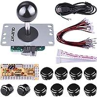 Quimat Arcade Kit ,Game handle,Kit de Jeu d'arcade de Bricolage Pour PC et Raspberry Pi 1/2/3 avec RetroPie, Joystick 5Pin, 8x 30MM et 2x 24MM Boutons < Noir >