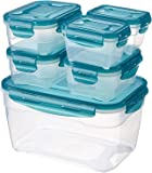 AmazonBasics 6pc Airtight Food Storage Set, Multicolour