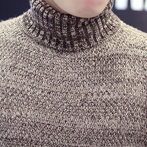 BOMOVO Herren Rollkragen Feinstrick Strickpullover Pullover Sweatshirt Grau